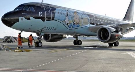 Un Airbus aux couleurs de Tintin atterrit à Toulouse | The Blog's Revue by OlivierSC | Scoop.it