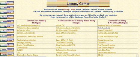 Literacy Corner   Miss Ellis' History Teaching Resources   Scoop.it