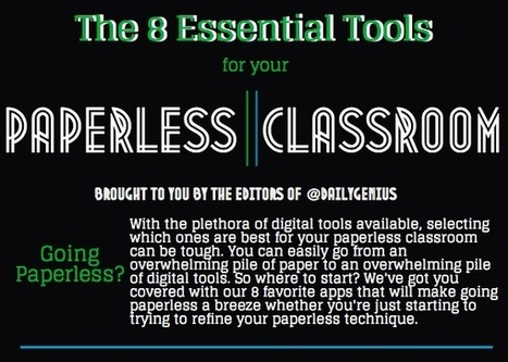 The best tools for your paperless classroom - Daily Genius | (e)Books and (e)Resources for Learning & Teaching | Scoop.it