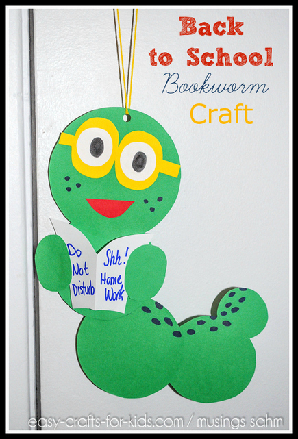 Back to School Bookworm Craft - Musings From a Stay At Home Mom | Education | Scoop.it