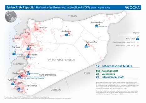 Syrian Arab Republic: Humanitarian Presence: International NGOs (as of 7 August 2013) [EN/AR] | ReliefWeb | Humanitarianism: A Journey to the Frontiers of Anarchy | Scoop.it