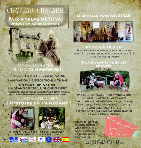 Château Chalabre - parc à thème médiéval | Culture aux environs du collège René Cassin | Scoop.it