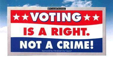 Billboards coming in Ohio: 'Voting is a right. Not a crime!' | English Language Teachers Tunisia | Scoop.it