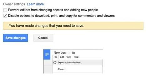 Google Drive: Dateien können mit Download-, Druck-, und... | web 2.0 in education | Scoop.it