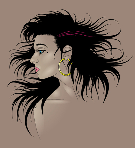 How to Illustrate Dynamic Hair Using Adobe Illustrator's Paintbrush Tool - Tuts+ Design & Illustration Tutorial | Inspiration & Tutorials | Scoop.it