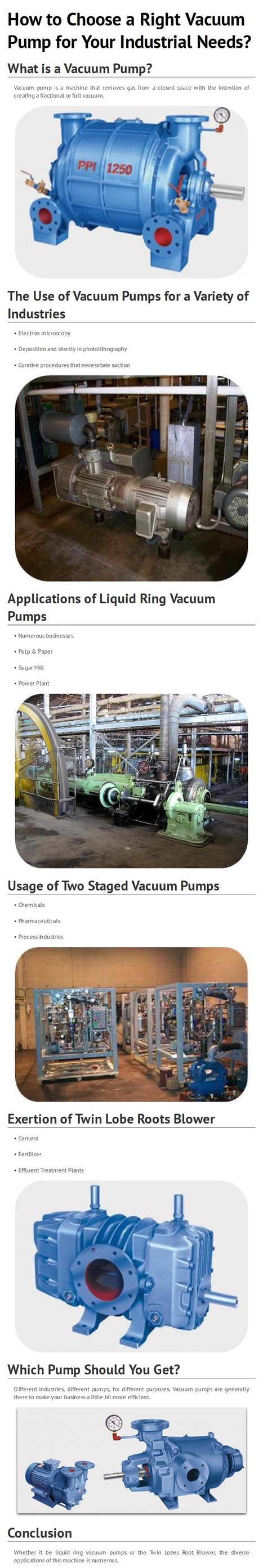 Select Right Vacuum Pump for Your Industrial Needs by www.ppipumps.com | PPI Pumps Pvt. Ltd. | Scoop.it