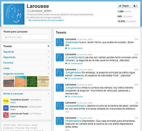¿Dudas con la ortografía? Mandale un tweet a Larousse Latinoamérica | ICT hints and tips for the EFL classroom | Scoop.it