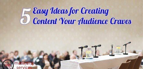 Five Easy Ideas for Creating Content Your Audience Craves | Focus in business | Scoop.it
