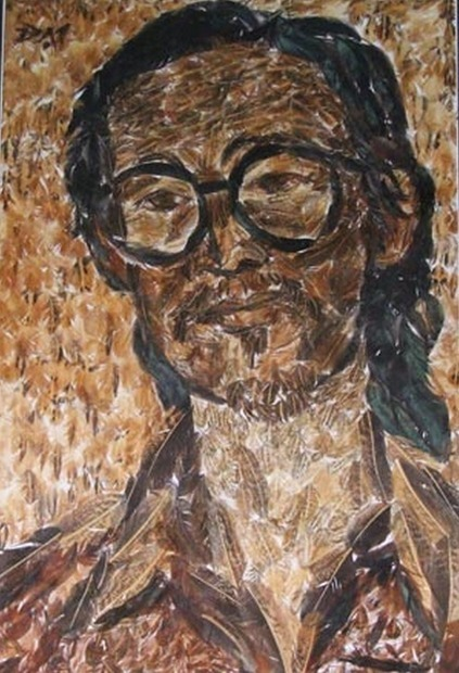 Vietnamese Self-Taught Artist Paints with Chicken Feathers | Strange days indeed... | Scoop.it