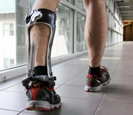 "You're looking at an unpowered ""ankle exoskeleton"" that researcher report can improve walking effici 