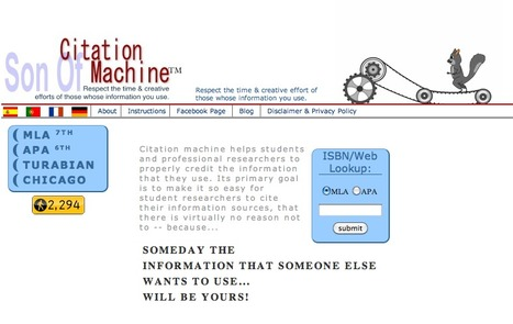 Son of Citation Machine | Information Technology Learn IT - Teach IT | Scoop.it