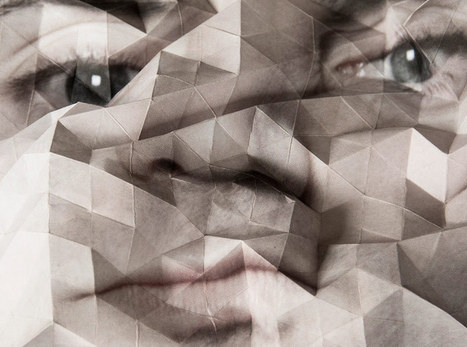 aldo tolino folds portraits into geometric facial landscapes | Design | Scoop.it