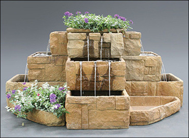 Stone Courtyard Cascading Fountain #2121-FP | outdoor fountains | Scoop.it