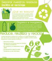 Separar residuos facilita el reciclaje #infografia #infographic#medioambiente   Seguridad Laboral  y Medioambiente Sustentables   Scoop.it