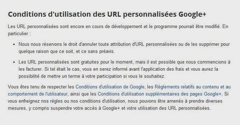Google+ : Les URL personnalisées ne sont ni gratuites, ni définitives - #Arobasenet | ALL OF GOOGLE PLUS WITH PHILIPPE TREBAUL ON SCOOP.IT | Scoop.it