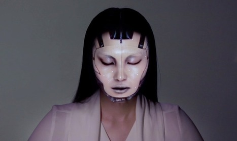"""Omote """"living makeup"""" uses mind-blowing projection mapping - SlashGear 