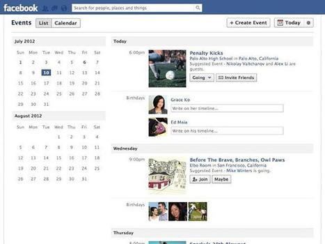 Facebook : une nouvelle vue pour les évènements | Les News Du Web Marketing | Scoop.it