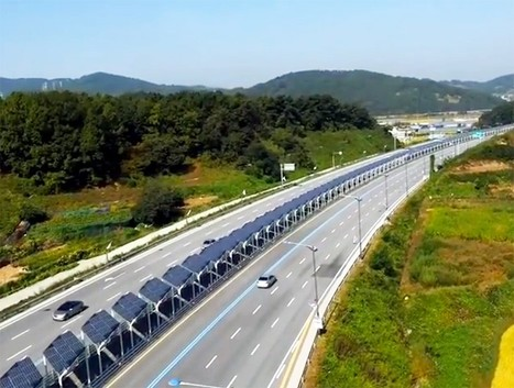 This bike lane in Korea is topped with 20 miles of solar panels | Sustainable imagination | Scoop.it