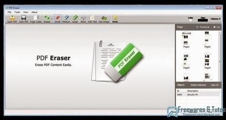 PDF Eraser : un logiciel gratuit pour supprimer et effacer le texte, les images, etc des fichiers PDF | Management et promotion | Scoop.it