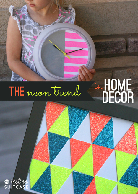 My Sister's Suitcase: Simple Home Decor Ideas Using NEON | Crafty | Scoop.it
