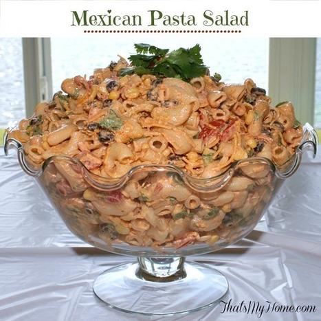 Mexican Taco Pasta Salad #mexicantacopastasalad #pastasaladrecipes #mexicanrecipes | Recipes. Food and Cooking | Scoop.it