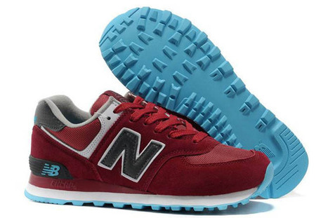 Men's new balance ML574MBG 2013 retro wine Red Blue Shoes | fashion collection | Scoop.it
