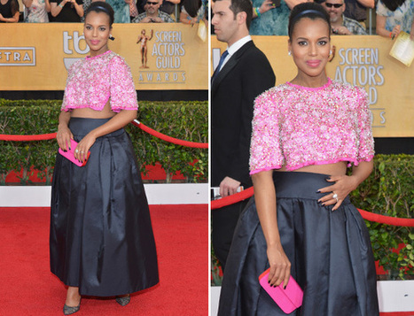 Pregnant Kerry Washington dresses Different for SAG 2014 Awards-Photos | natural | Scoop.it
