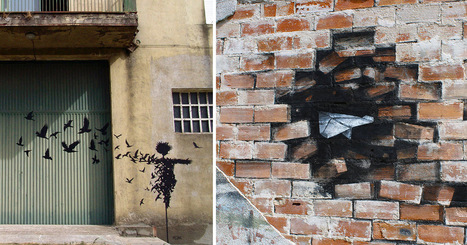 The Subtractive Canvases and Street Art of Pejac | Colossal | The Urban Canvas | Scoop.it