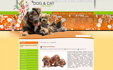 Free Joomla 3.0 template pets   PLEASE PLEASE ME   Scoop.it
