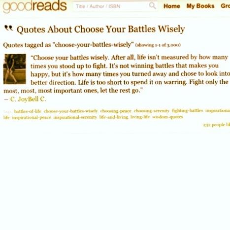 Escoge tus batallas, no todas valen la pena http://t.co/NCzhJ5zCby | @hectorarturo | Scoop.it