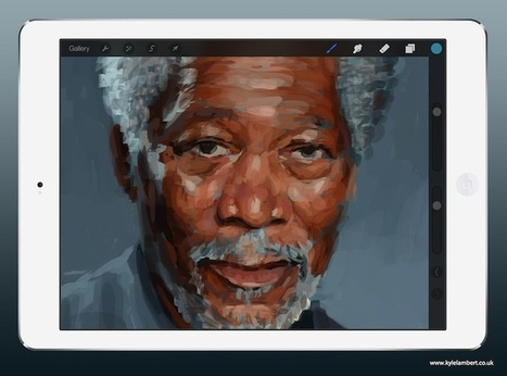 285,000 Finger-Painting Strokes on iPad Forms Realistic Portrait of Morgan Freeman | iGeneration - 21st Century Education | Scoop.it