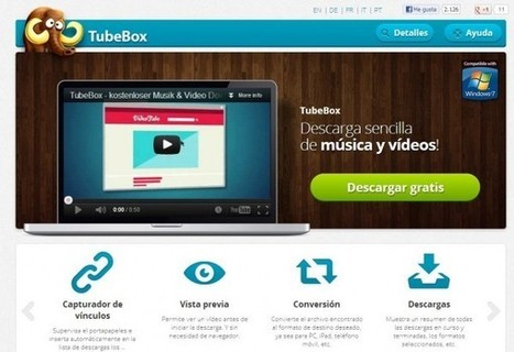 tubebox – Para bajar vídeos y audio de YouTube, Vimeo, DailyMotion, etc. | tec2eso23 | Scoop.it