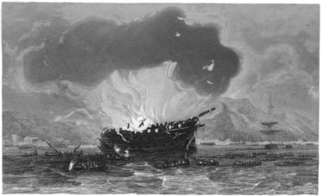 La fin du Trocadéro, vaisseau de 118 canons (1836). | Bateaux et Histoire | Scoop.it