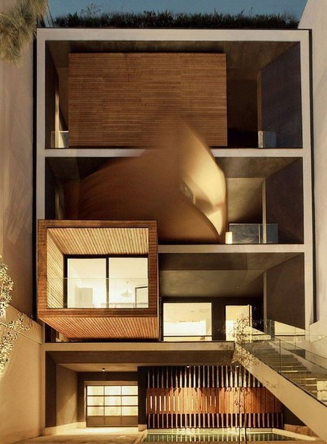 Sharifi-ha House, A Modern Home That Changes Rooms Orientation According To The Seasons | Architecture-Engineering-Urban Planning | Scoop.it