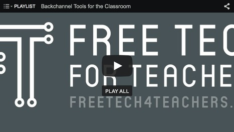 Free Technology for Teachers: 5 Videos About Classroom Backchannel Tools | Moodle and Web 2.0 | Scoop.it