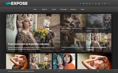 Expose Responsive Blogger Template | Blogger Templates | Scoop.it