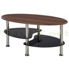 LPD Evolve Walnut and Black Glass Coffee Table | Glass Coffee Tables | Scoop.it