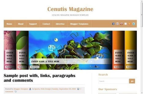 Cenutis Magazine Blogger Templates Free Download - GuidePedia | www.guidepedia.info | Scoop.it