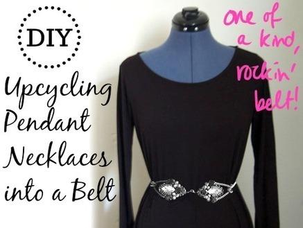 DIY Tutorial: Upcycling Pendant Necklaces into a Belt | Fashion DIY | Scoop.it