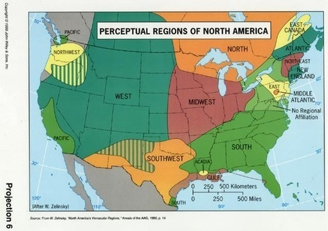 Perceptual Regions of North America | Perspectives of Geography | Scoop.it