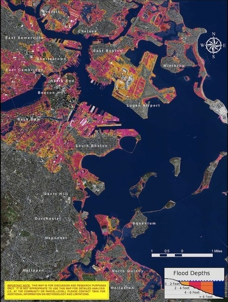 Boston's unnatural shoreline | Map@Print | Scoop.it