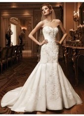 Trumpet Mermaid Sweetheart Court Train Satin Ivory Wedding Dress H5cl0145 for $1,157 | cosplay | Scoop.it