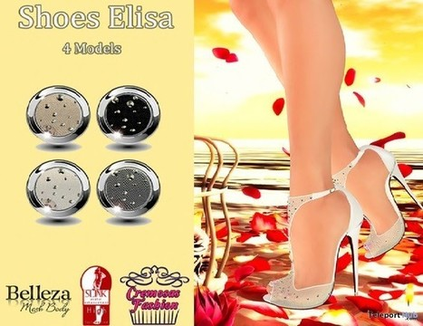 Elisa Shoes For Slink & Belleza Teleport Hub Group Gift by Cremosas Store | Teleport Hub - Second Life Freebies | Second Life Freebies | Scoop.it