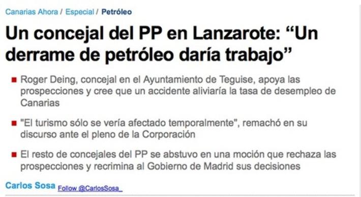 Un derrame de petróleo daría trabajo. Tweet from @XoseMorais | Partido Popular, una visión crítica | Scoop.it
