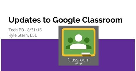 Tech Presentation: Updates to Google Classroom | computer tools | Scoop.it