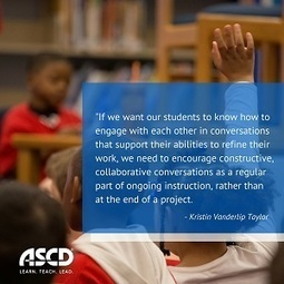 » Teaching Students to Give and Receive Meaningful FeedbackASCD Inservice | Dialogue and Learning | Scoop.it