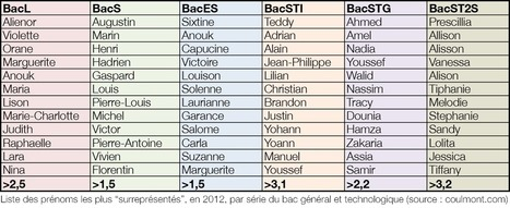 Baptiste Coulmont » Séries de prénoms | Engineering and science | Scoop.it