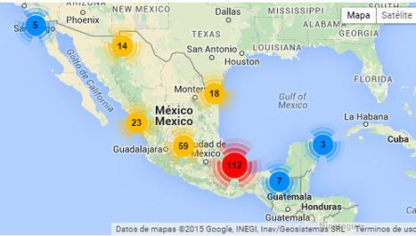 Mapa de agresiones a periodistas en México | Geografía | Scoop.it