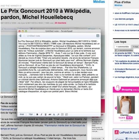 Scratchpad, pour enregistrer des extraits de pages web sur Google Docs | Outils pour le CDI : ressources web2 | Scoop.it