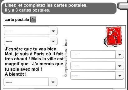 Compréhension écrite - La carte postale | LilianaHR | Scoop.it